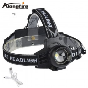 AloneFire HP99 2000LM XML-T6 LED headlight headlamp flashlight head lamp for 18650 battery front light portable light