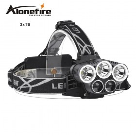 AloneFire HP25 8000LM led headlamp head light XML-T6 head lamp 6mode outdoor camping headlight lamp