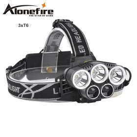 AloneFire HP26 8000LM 5mode xml-t6 led Rechargeable Headlight Outdoor Camping Hunting Fishing Head Lamp