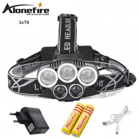 AloneFire HP26 8000LM LED Lighting Head Lamp 3T6 Headlight Hunting Camping Fishing Light headlamp head flashlight torch