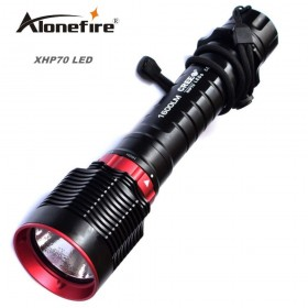 AloneFire DV31 XHP70 LED diving flashlight CREE XHP70 Underwater Flash light Lamp Torch Diving Torch Diver flashlight USE 18650 OR 26650 battery