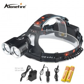AloneFire HP29 2T6 headlamp led headlight high bright T6 head lamp lighting XML T6 led flashlight torch lantern fish light