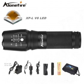 AloneFire E26 CREE XP-L V6 tactical flashlights torches powerful led flashlight v6 26650 lighting lamp 10W powerfull bike lights