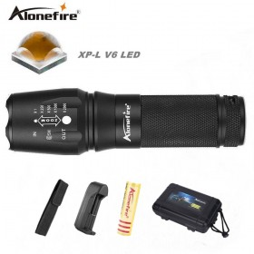 AloneFire E26 CREE XP-L V6 Portable Powerful LED Flashlight CREE V6 tactical flashlight 26650 led light for bike cycling hunting