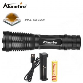 AloneFire E007 CREE XP-L V6 waterproof led flashlight adjustable zoomable flashlight torch lights