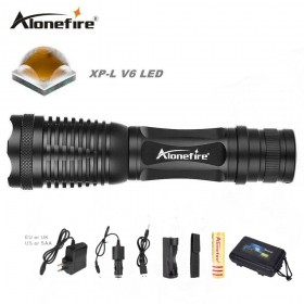 AloneFire E007 zoomable cree led flashlight XP-L V6 led torch for 18650 battery rechargeable light