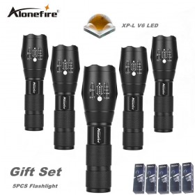 AloneFire E17 CREE XP-L V6 10W super bright led flashlight cree v6 led zoom waterpoof Powerful Flashlight