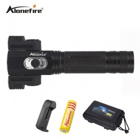 AloneFire X180 Super Bright 4 Modes 3 LED Rotation Flashlight Worklight Torch Work Stand Light Magnetic Tent Camping Lamp Use 18650 Battery