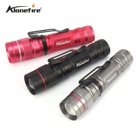 AloneFire X170 LED Flashlight Q5 Zoomable Waterproof Flashlights Linternas LED Lampe Torche AA/14500 Mini LED Flashlight for Self Defense