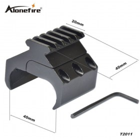 AloneFire T2011 Tactical Hunting Rifle Gun Scope Mount Converter 20mm Picatinny Weaver Rail Mount Base Adapter Laser Sight Base Mount