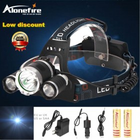 AloneFire HP83 10000LM XML T6 LED Headlamp Headlight 4 Mode rechargable Head Lamp for USB Cable+AC Charger+2*18650 battery