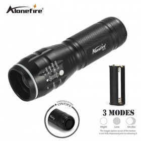 AloneFire SK10 High-quality Mini Black CREE XPE 2000Lumens LED Flashlight Zoomable LED Torch penlight For AAA battery
