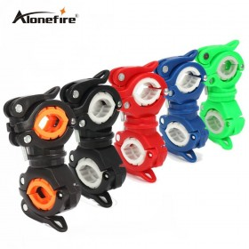 AloneFire 1pc 360 Degree Rotation Cycling Bike Flashlight Holder Bicycle Light Torch Mount LED Head Front Light Holder Clip Bike Accessories