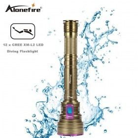 AloneFire DV40 Dive 30000LM 12*XM-l2 LED Waterproof 100m Diving Scuba 26650 Flashlight Torch