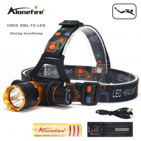 AloneFire DV41 XML T6 LED 5Mode Waterproof Scuba Diving Headlamp Underwater work Headlight Flashlight torch Light