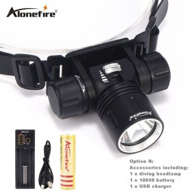 AloneFire DV42 waterproof Underwater XM-L XML L2 Headlamp Swimming Diving Headlight Dive Head Light Torch Lamp 18650