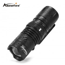 AloneFire TK100 Portable Mini Flashlight CREE XML-T6 LED lantern 4 Modes Zoomable Waterproof torch penlight for bike With Magnet