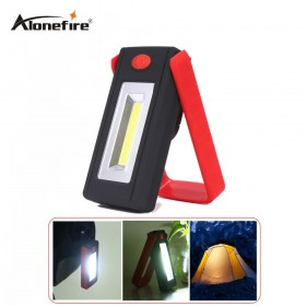 AloneFire C019 COB LED Flashlight Magnetic Working Folding Hook Light Lamp Torch Linternas Lanterna Lamp USE 3x AAA