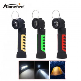 AloneFire C020 COB LED Flashlight Magnetic Working Folding Hook Light Lamp Torch Linternas Use 4xaaa batteries