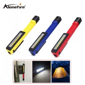 AloneFire C021 Colorful Portable Mini LED Magnet COB Inspection work Light Lamp Multifunction COB LED Mini Pen cob work flashlight cob square