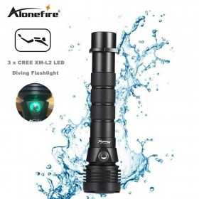 AloneFire DV44 Diving Flashlight 26650 Light Dive Torch Powerful Cree LED XM-L2 Underwater Flashlight Waterproof Diving Lamp lanterna