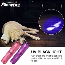 AloneFire SV001 High quality CREE LED UV Flashlight SK68 Purple Violet Light UV torch 365nm Lamp