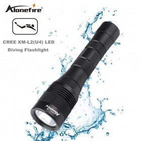 AloneFire DV47 Diving flashlight Torch XML L2 LED Waterproof Underwater Lamp Dive 150m Lamp lanterna led