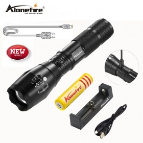 AloneFire High Bright G700-U CREE XM-L T6 USB Rechargeable LED Flashlight Zoomable linternas 3800 Lumens LED Torch