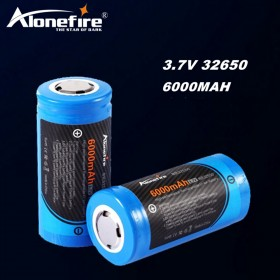 AloneFire Original 1PC 3.7 V 6000 mah 32650 Battery High capacity Li-Ion 32650 Battery for Electric toy