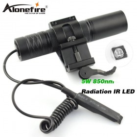 AloneFire 850nm Zoom Infrared Radiation IR LED Night Vision Flashlight Camping Light Hunting Lamp Flashlight IR01