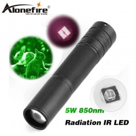 AloneFire Camping Light Hunting Lamp Flashlight IR Lamp 5W Torch 850nm Zoom Infrared Radiation IR LED Night Vision flashlight IR01