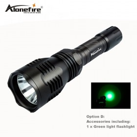 AloneFire HS-802 LED CREE Green LED Tactical Hunting Light Flashlight Torch