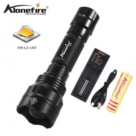 AloneFire X510 Cree XM-L2 Tactical Flashlight Torch Zoom Linternas 18650 LED Flash light