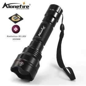 AloneFire X510 Infrared Red IR 850nm Zoomable 1-Mode IR Flashlight 850nm 1 Mode Night Vision Infrared flashlight