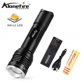 AloneFire X540 Zoomable CREE XM-L2 Tactical LED Flashlight Ultra Bright Flashlights 5 Modes Zoom LED flash light