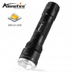 AloneFire X550 Mini Zoom Flashlight CREE XM-L2 Led Bulb Outdoor Hunting Torch Night Flashlight