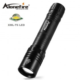 AloneFire X721 LED Flashlight 18650 Cree XML-T6 Tactical Flashlight AAA 5 modes Torch Lanterna Waterproof Camping cycling