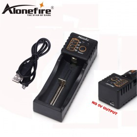 AloneFire MC100 18650 Battery Charger For 26650 16340 CR123 1.2V Ni-MH Ni-Cd Rechareable Battery (no 5V output)