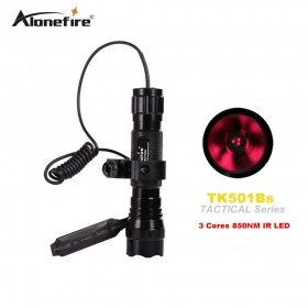 AloneFire 501B 3 Core 5W 850NM Infrared LED Flashlight with Night Vision Instrument Fill Light Function
