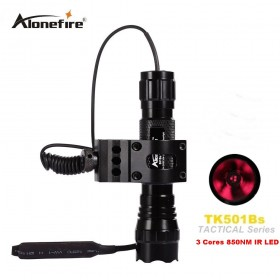 AloneFire 501B 5W IR 850nm Night Vision Flashlight Torch waterproof Infrared 3 Cores LED Light
