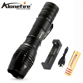 AloneFire G702 LED Flashlight 18650 zoom torch 5000 Lumens Waterproof flashlights cree xm-l t6 LED Zoomable light