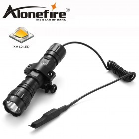 AloneFire 501Bs Tactical Flashlight L2 Hunting Rifle Torch Shotgun lighting+Tactical mount+Remote switch
