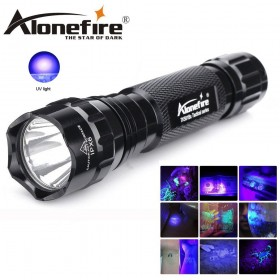 AloneFire 501Bs Military Grade tactical UV ultraviolet flashlight UV LED 365NM UV 395NM