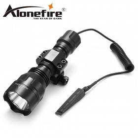 AloneFire C8s Tactical Led Flashlight CREE XML T6 Waterproof 18650 battery touch camping bicycle flash light