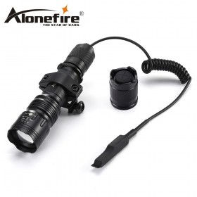 AloneFire TK104 L2 LED Tactical Flashlight 5mode Outdoor hunting Pistol Handgun Torch Light Lamp+gun scope mount+remote switch