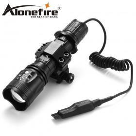 AloneFire TK400 XML L2 led hunting torch light flashlight Pressure Switch Mount Hunting Rifle Torch Lighting
