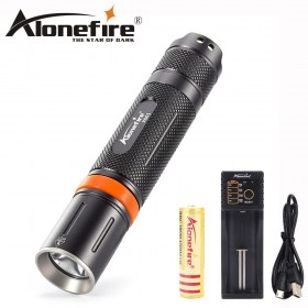 AloneFire X001 tactical led light powerful flashlight CREE XML L2 led mini light penlight