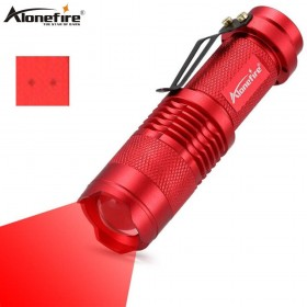 AloneFire SK68 Red Light Flashlight Red Hunting Light Tactical Flashlight Red Light Torch For Fishing Hunting Detector