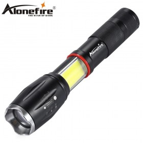 AloneFire G701 Multifunction Zoom Led flashlight 5000lm CREE XML T6 Torch COB lantern Lamp Magnet AAA 18650 Rechargeable battery