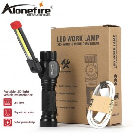 AloneFire W102 COB Work Light Portable LED Light Home Outdoor Foldable Rechargeable Work Light Magnet Flashlight Torch Lamp Light